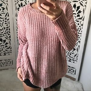 Sweaters - POP Chenille Scallop Hem Pullover Sweater